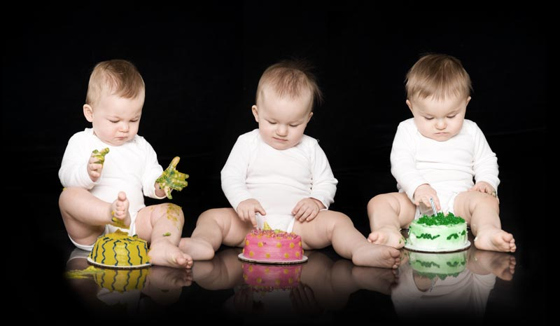 Birthday Cake Baby Pictures In Grand Rapids Michigan