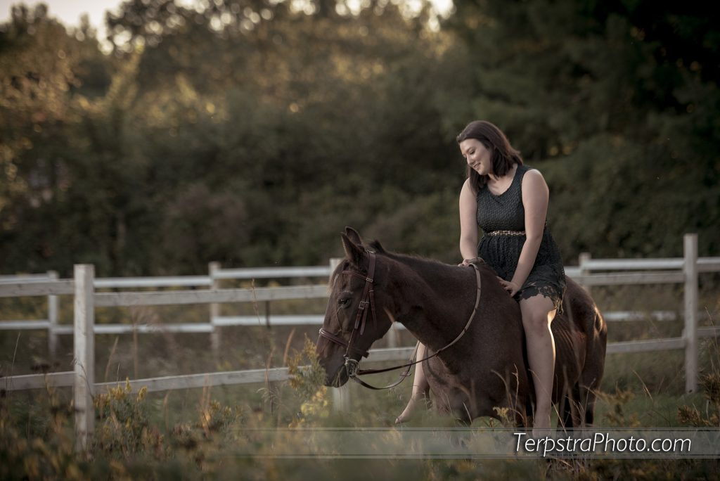 Country Girl with Horse